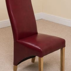Leather Kitchen Chairs Desk Chair Next Lola Curved Back Brown Dining Room