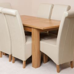 Ivory Dining Chairs Uk Plastic Chair Covers For Wedding Hampton Extending Solid Oak Table And 6