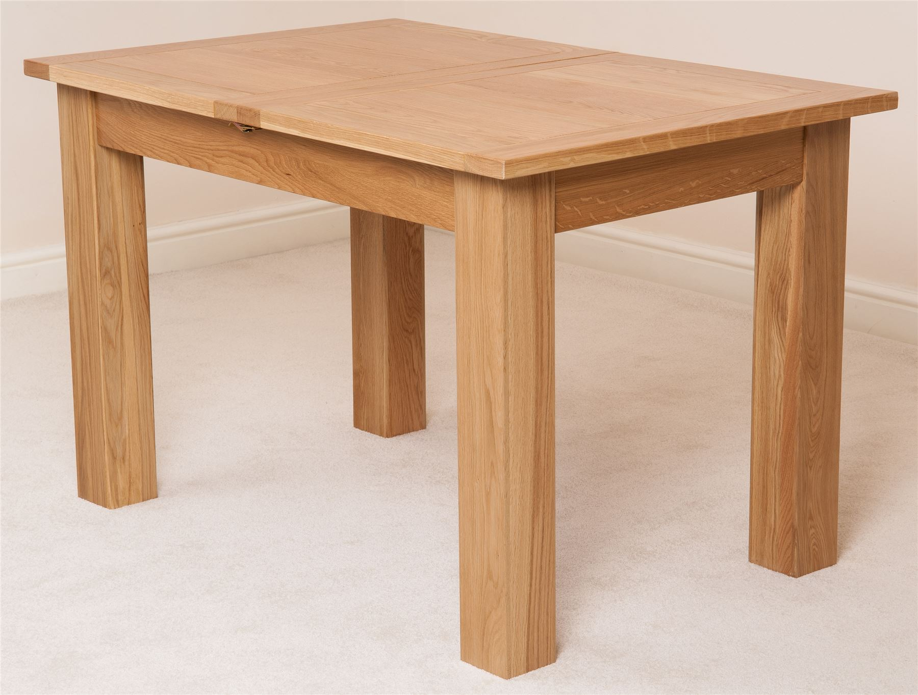 Hampton Solid Oak Wood Medium 120cm Extending Table Wooden