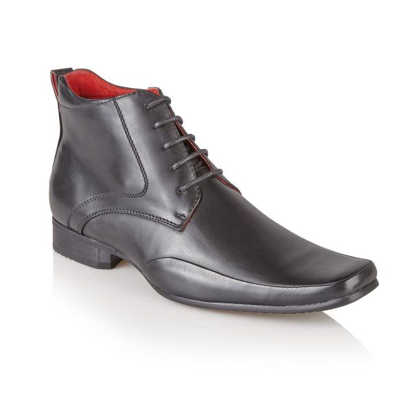 Mens Italian Style Leather Lined Formal Casual Chelsea