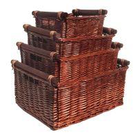 Large Wicker Log Basket Storage Logs Firewood Fireplace ...