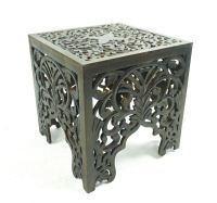 Beautiful Brown White Square Hand Carved Indian Wooden ...