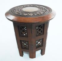 Beautiful Round Brown White Hand Carved Indian Shesham ...