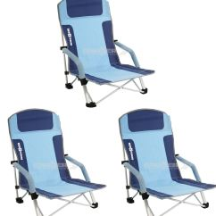 Folding Low Beach Chair Small Bean Bag Chairs For Toddlers Brunner Bula Camping X 3 Ebay