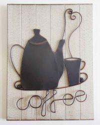Wall Art - Metal Wall Art - Coffee Pot | eBay