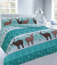 XMAS DUVET COVER WITH PILLOW CASE CHRISTMAS QUILT BEDDING ...