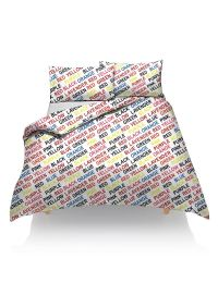 FANCY DUVET COVER WITH PILLOW CASE PRINTED QUILT BEDDING ...