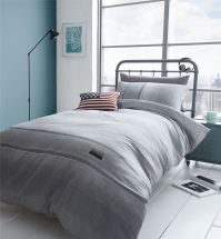 Denim Duvet Quilt Cover Set, Reversible Single Double King ...