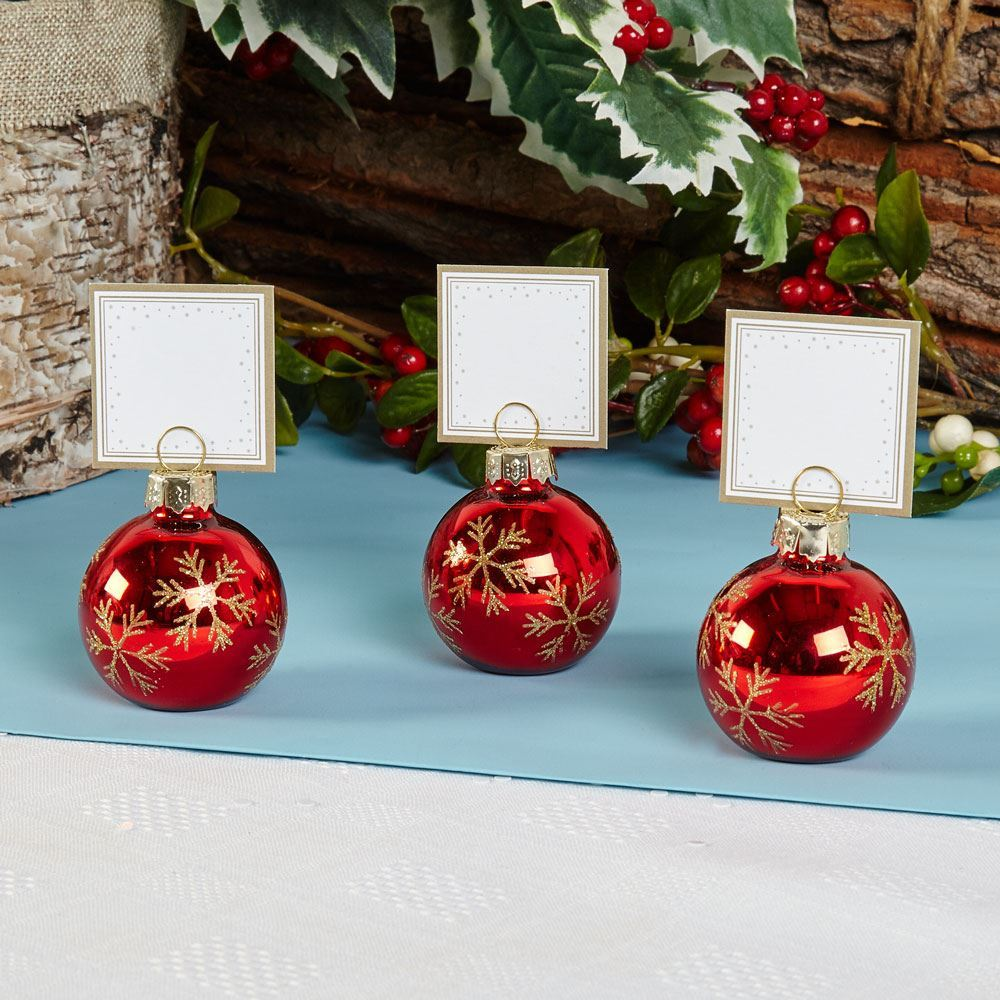 Christmas Place Cards Table
