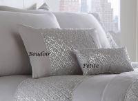 Luxury Diamante Trim Duvet Quilt Cover Bedding Set Shimmer ...