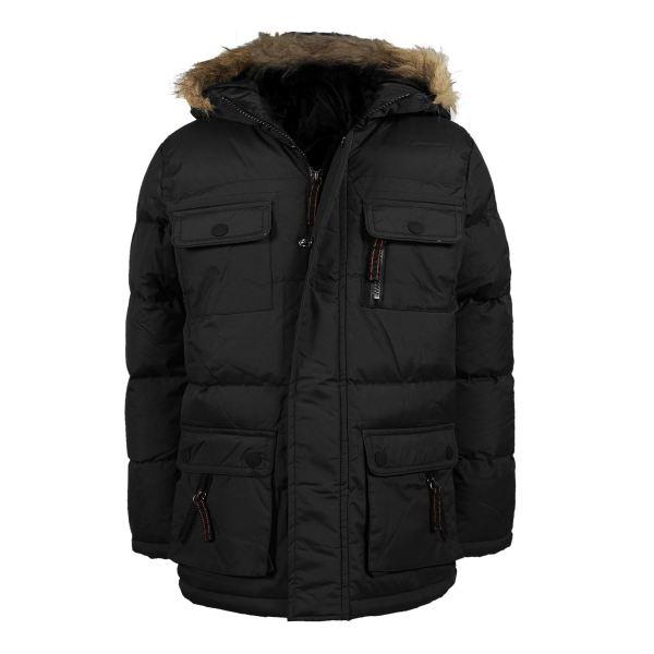 Boys Everest Parka Zip Puffer Jacket Plain Outdoor Winter Coat