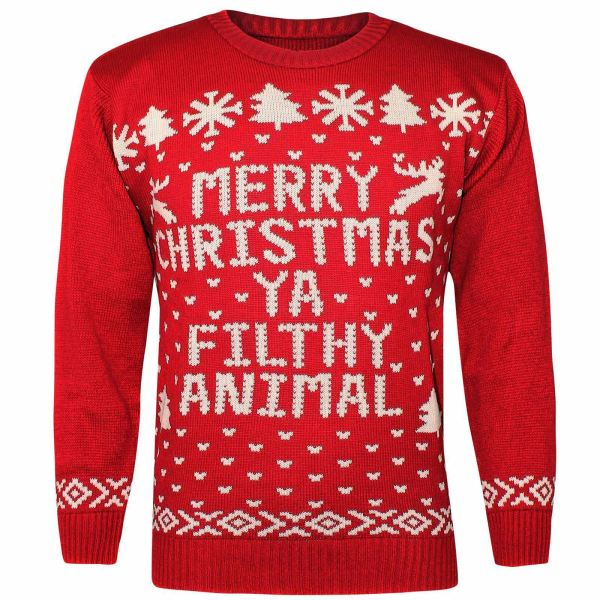 Womens Sweater Jumper Unisex Mens Xmas Reindeer Christmas