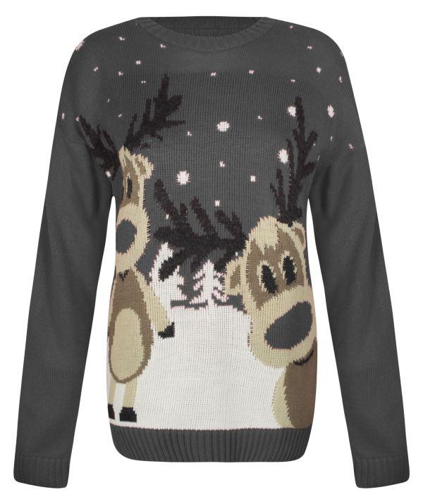 Womens Knitted Christmas Novelty Santa Reindeer Penguin