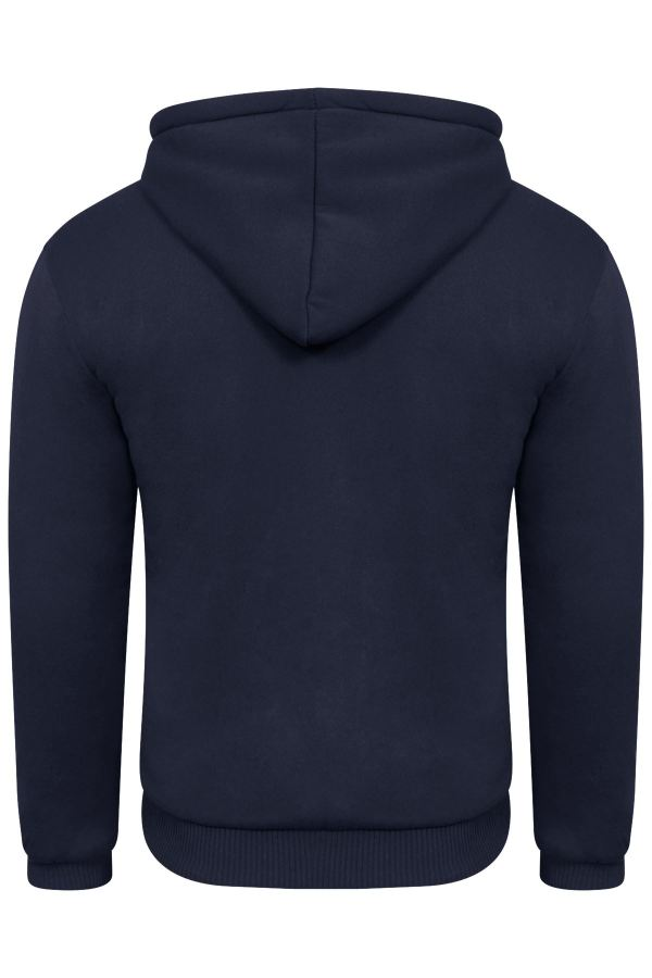 Mens Boys Conventional Faux Fur Lined Hoodie
