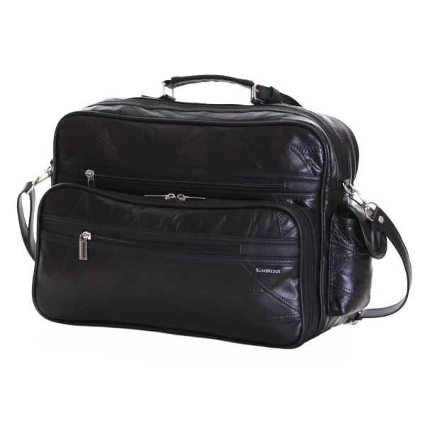 Genuine Real Patch Leather Travel Gym Sports Cabin Flight