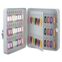 Key Cabinet Gray Metal Box Storage Multi Key Holder for ...