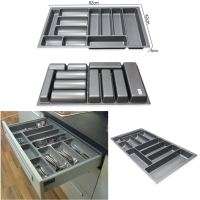800MM / 900MM Grey Plastic Cutlery Trays Kitchen Drawers ...