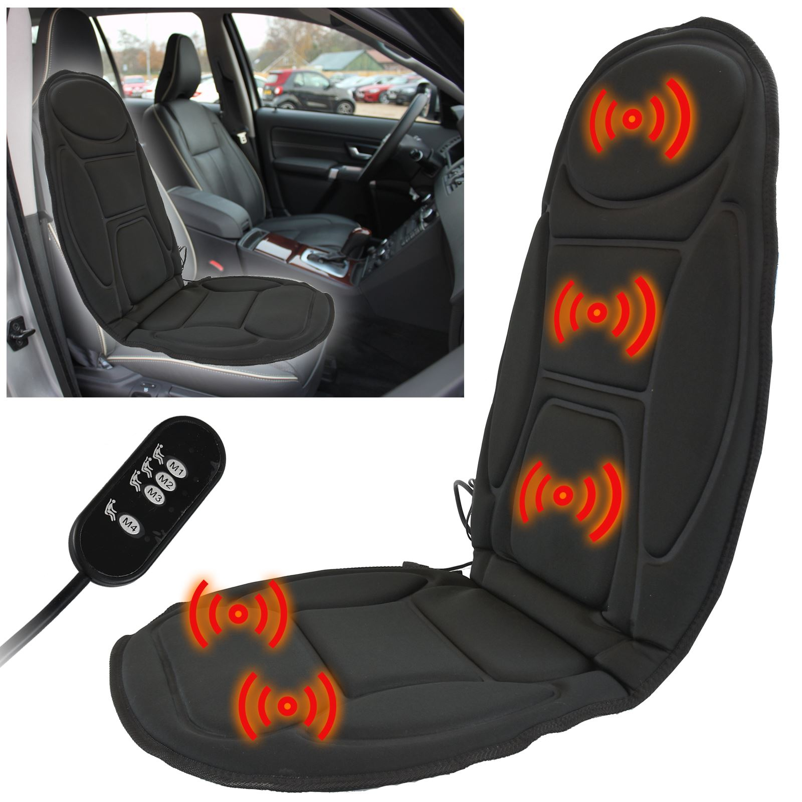 Chair Back Massager Massage Car Seat Cover Chair Back Massager Vibrate Cushion