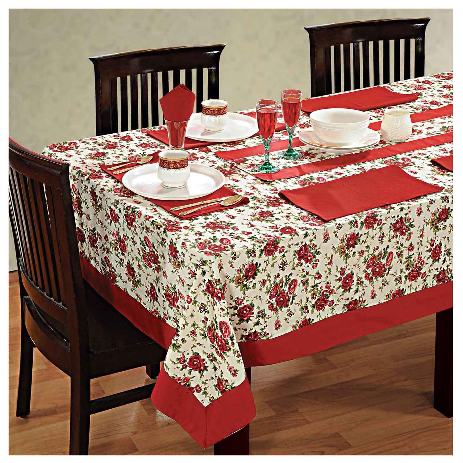 6 Seater Dinner Party Table Linen Set kitchen Dining