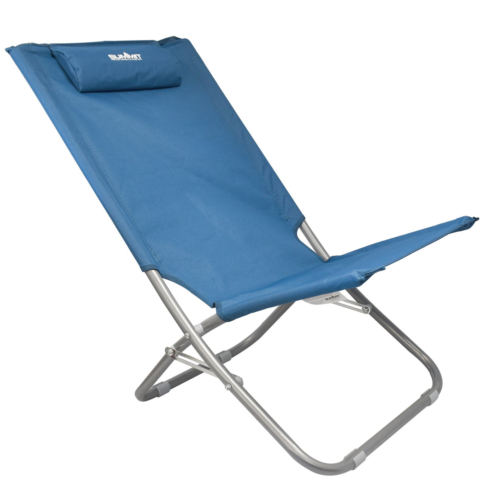 Folding Lounge Beach Chair Summit Relaxer Folding Maderia Sun Lounger Lightweight