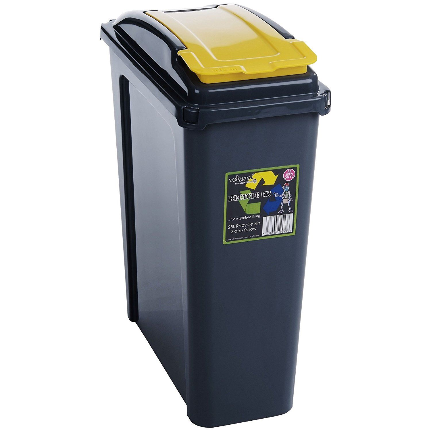 small recycling bins for kitchen refurbished cabinets sale 25l 50l plastic recycle bin lid rubbish