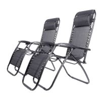 Deluxe Heavy Duty Zero Gravity Reclining Sun Lounger ...