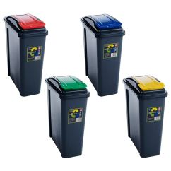 Small Recycling Bins For Kitchen Beige Tiles 25l 50l Plastic Recycle Bin Lid Rubbish