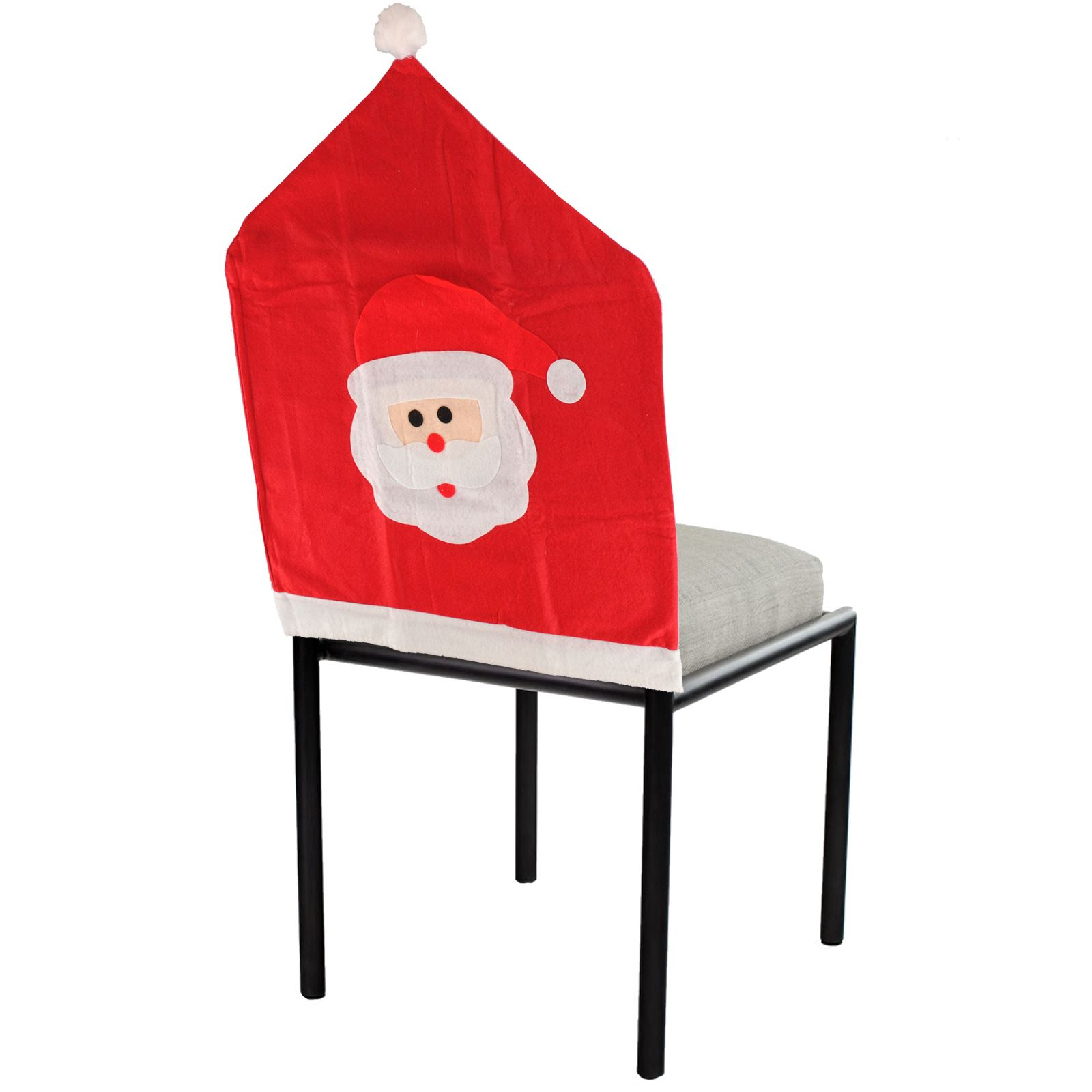 dining chair covers for christmas fashion accessories santa face cover bobble hat felt