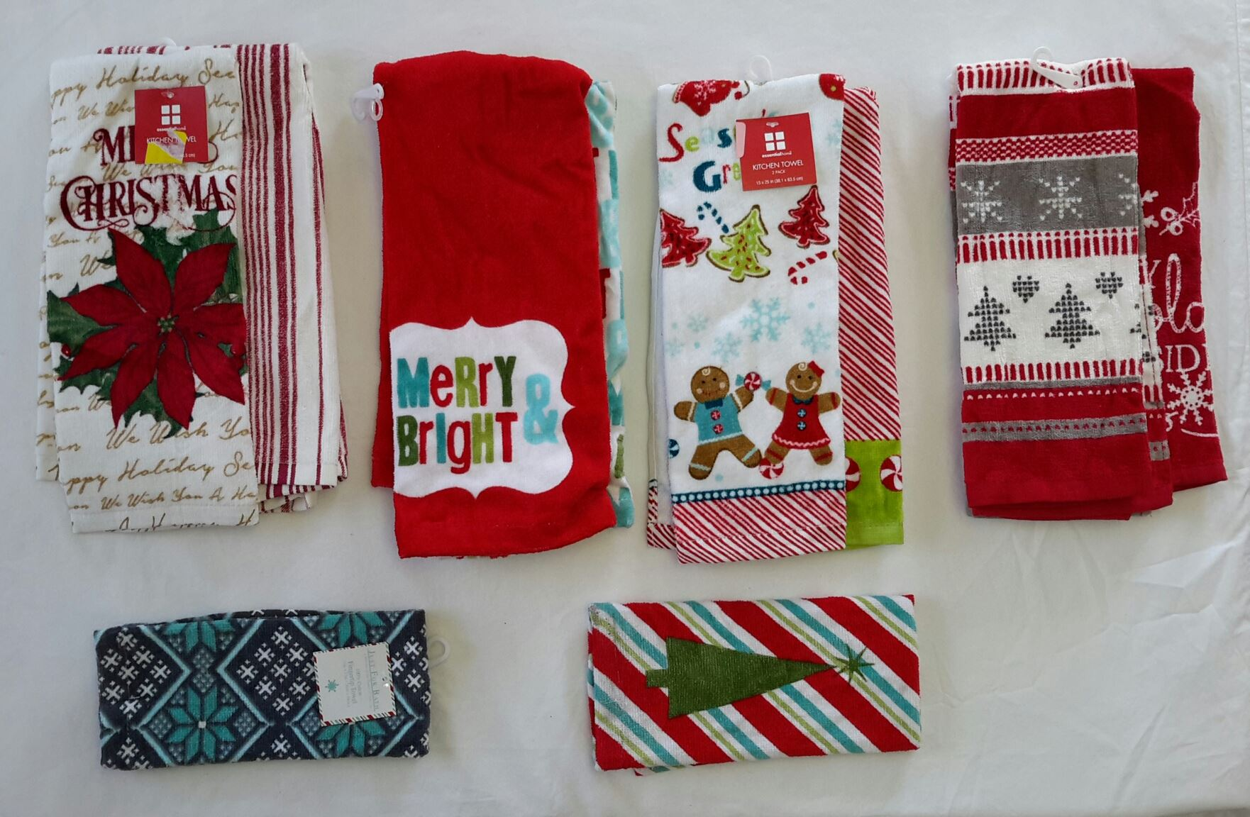 cheap kitchen towels cabinets pensacola wholesale resale lot of 22 holiday christmas bath