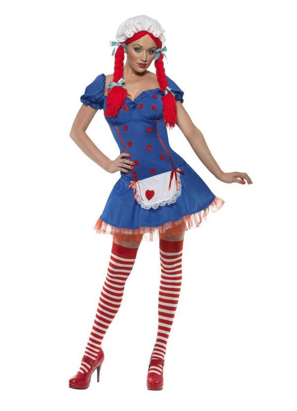 Smiffys Large Ladies Rag Doll Halloween Fancy Dress