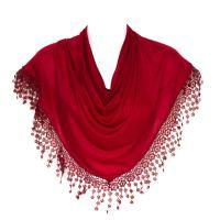 Plain Women Lady Chandelier Lace Fringed Shawl Stole Wrap ...