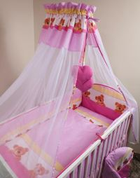 NEW BABY COTTON FABRIC CANOPY / DRAPE + HOLDER FOR NURSERY ...