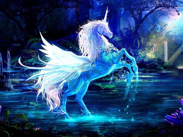 Beautiful Unicorn Fantasy Horse Large Art Print Poster