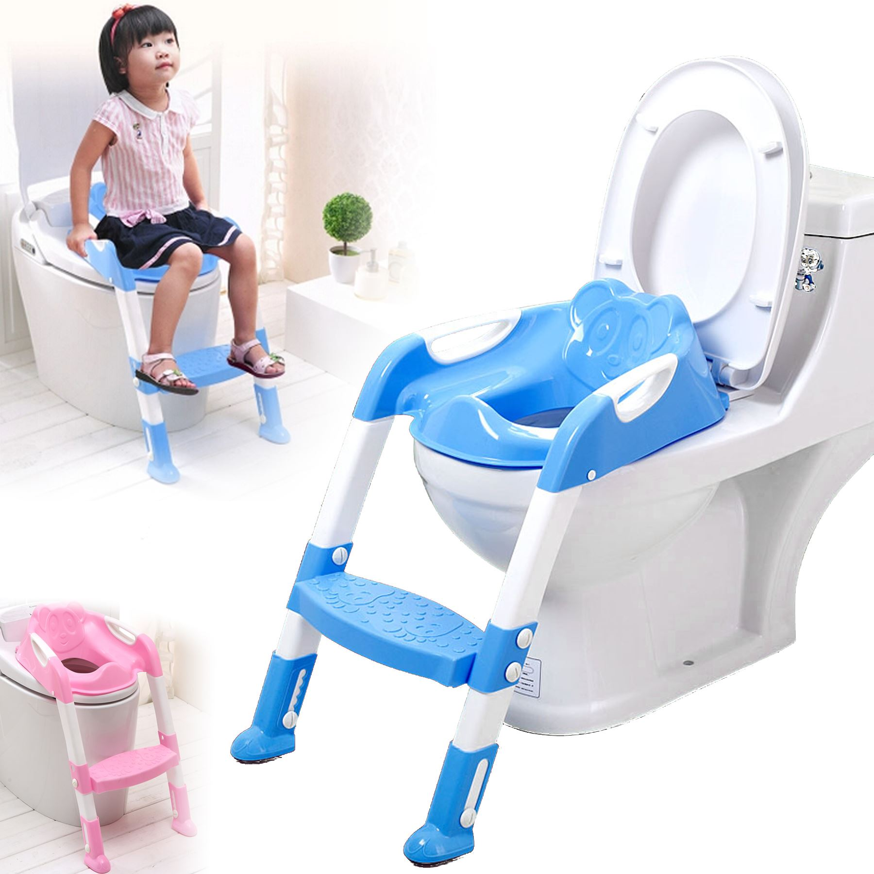Boys Potty Chair Baby Toddler Toilet Training Potty Seat 2 Step Ladder