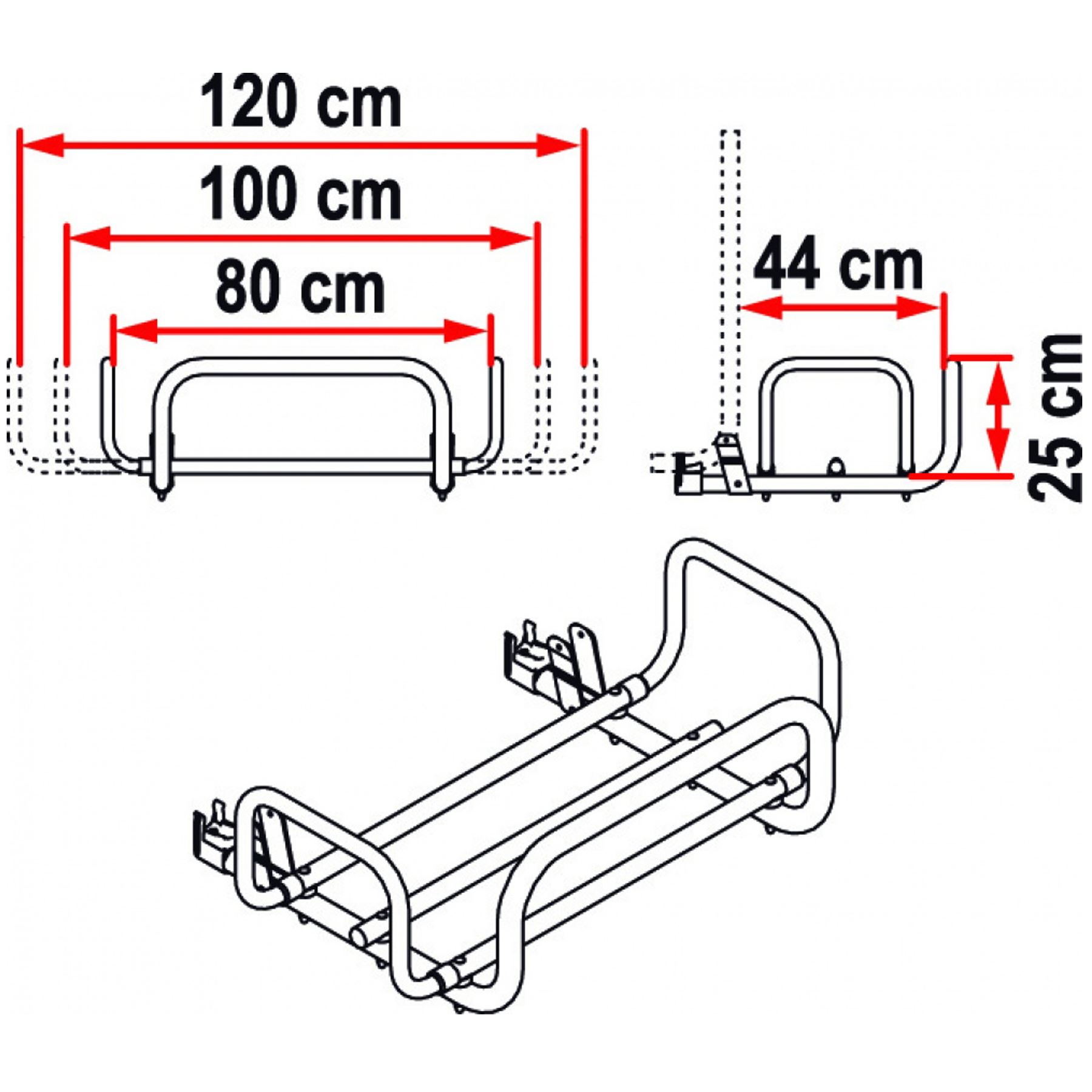 Fiamma Kit Carry Box For Bike Pro Cycle Rail Rack Carrier