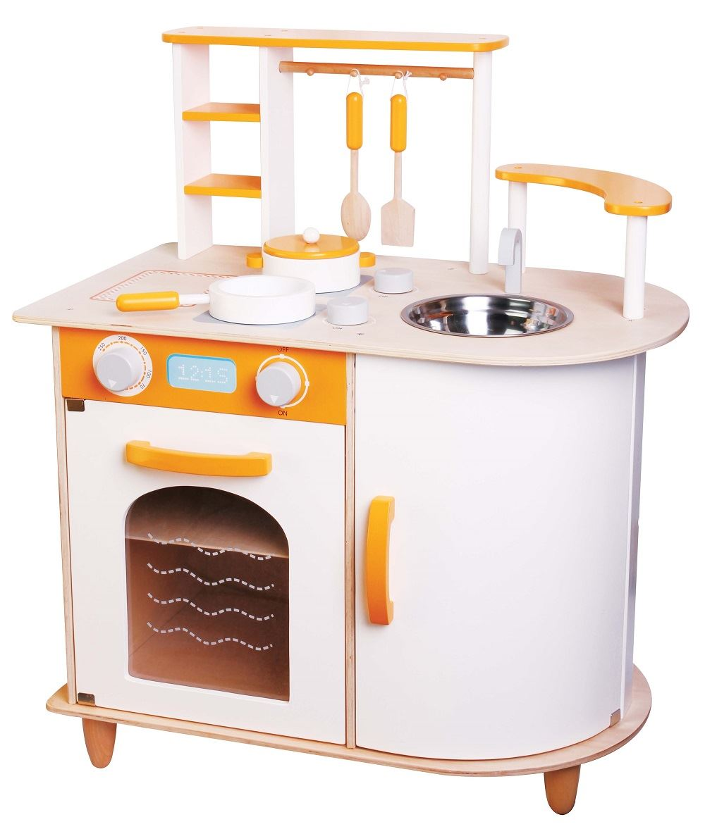 LELIN WOODEN WOOD CHILDRENS PRETEND PLAY KITCHEN COOKING FOOD PAN POT CHEF TOY  eBay