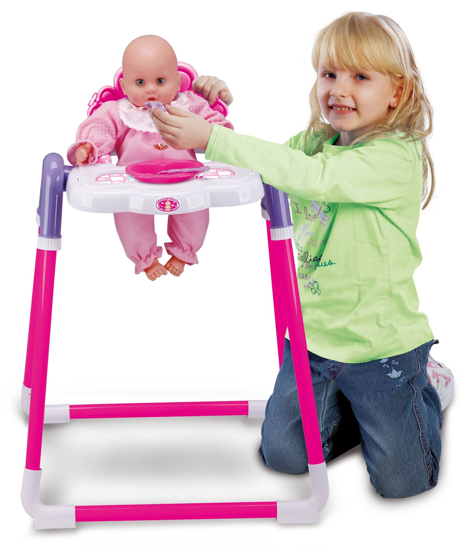 Baby Play Chair Baby Doll Childrens Kids Pretend Play Feeding High Chair