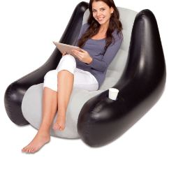 Gaming Lounge Chair Contemporary Reading Bestway Perdura Inflatable Flocked Camping