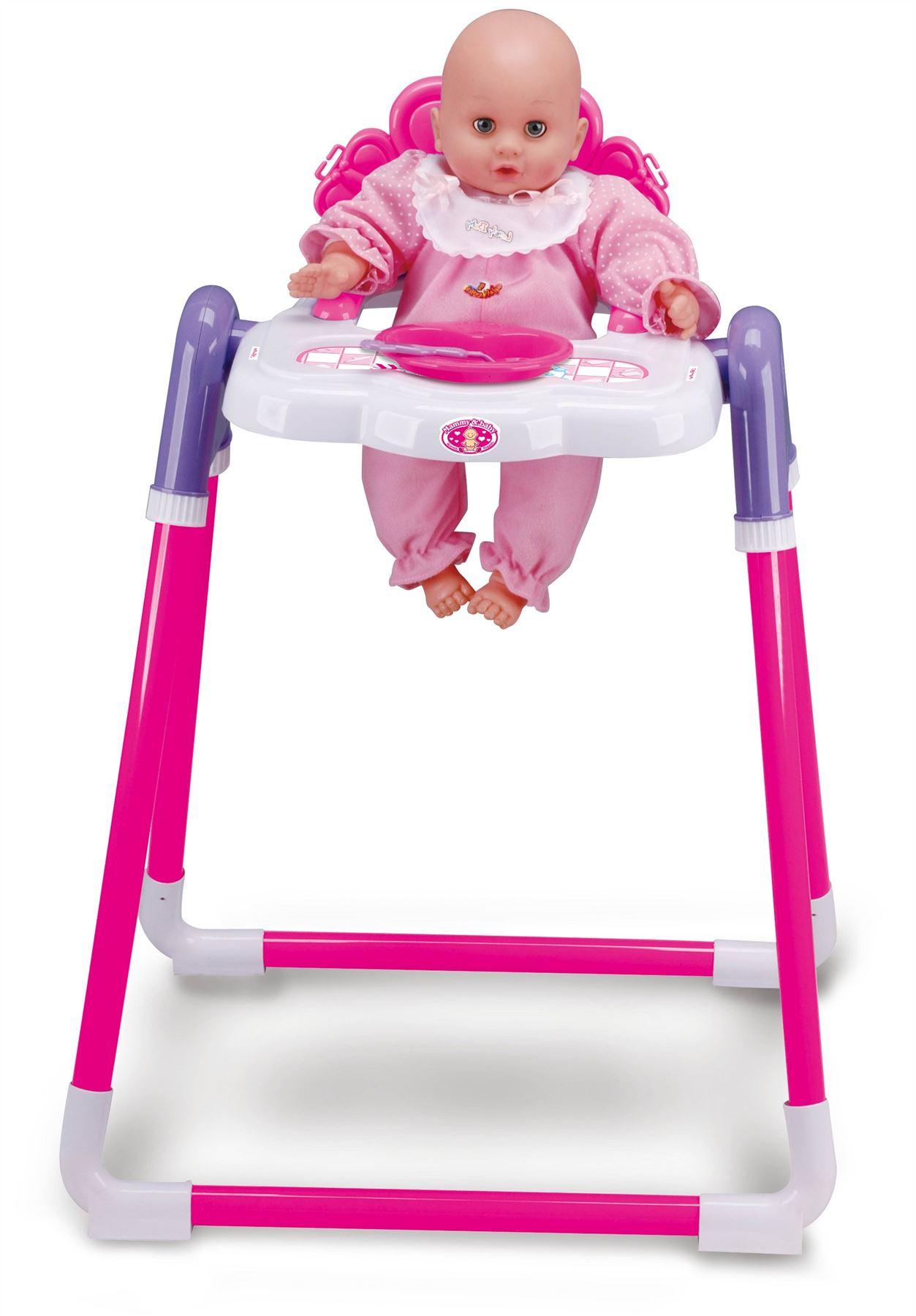 baby toy high chair set rocking cushion doll childrens kids pretend play feeding
