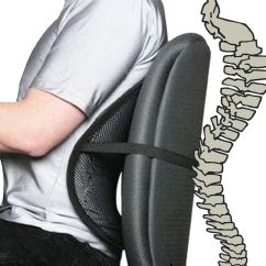 Chair Lumbar Support 4 In 1 High Black Cool Air Back Mesh Home Office Car Seat