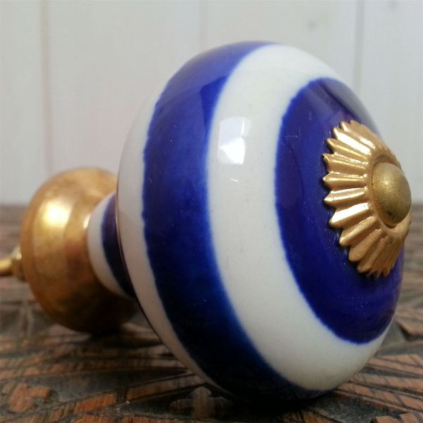 Big Choice Blue Ceramic Drawer Pulls Door Knobs Furniture