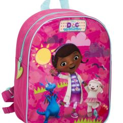 Doc Mcstuffins Upholstered Chair Uk Baby Camping High Official Disney Character Chids Childrens Backpack