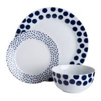 12pc Porcelain Dinner Set (Dining Tableware Dinner/Side
