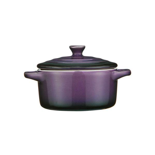 Ovenlove Mini Casserole Dish Graduated Purple Stoneware