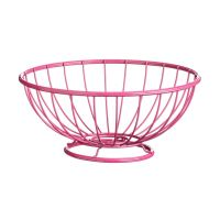 Helix Fruit Basket, Hot Pink Powder Coated Metal | eBay