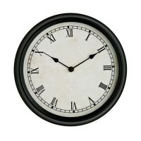 WALL CLOCK Black Rustic Design Round Home Modern ...