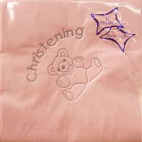 Luxury pink christening napkins tableware decorations