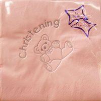 Luxury pink christening napkins tableware decorations