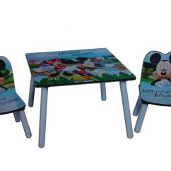 Mickey Mouse Armchair Uk Step 2 Table And Chairs Disney Kids Made From Wood