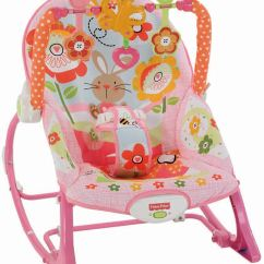 Baby Toddler Chair Fisher Price Shower Covers Infant To Rocker Pink Bunny Ebay